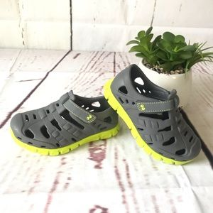 Stride Rite Gray and Neon color shoes